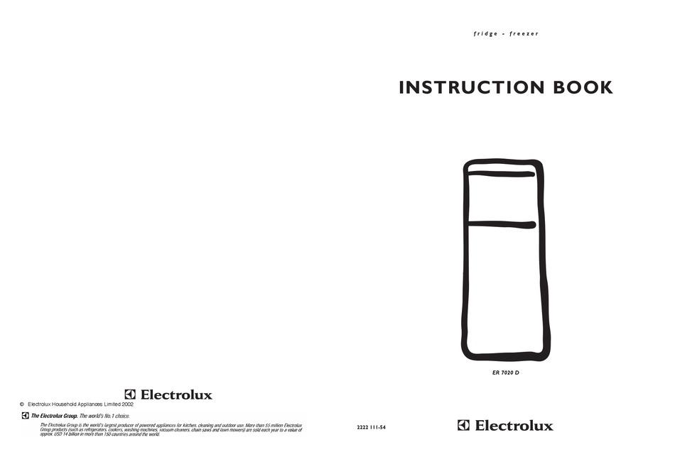 electrolux er 7020 d instruction book pdf download | manualslib  manualslib
