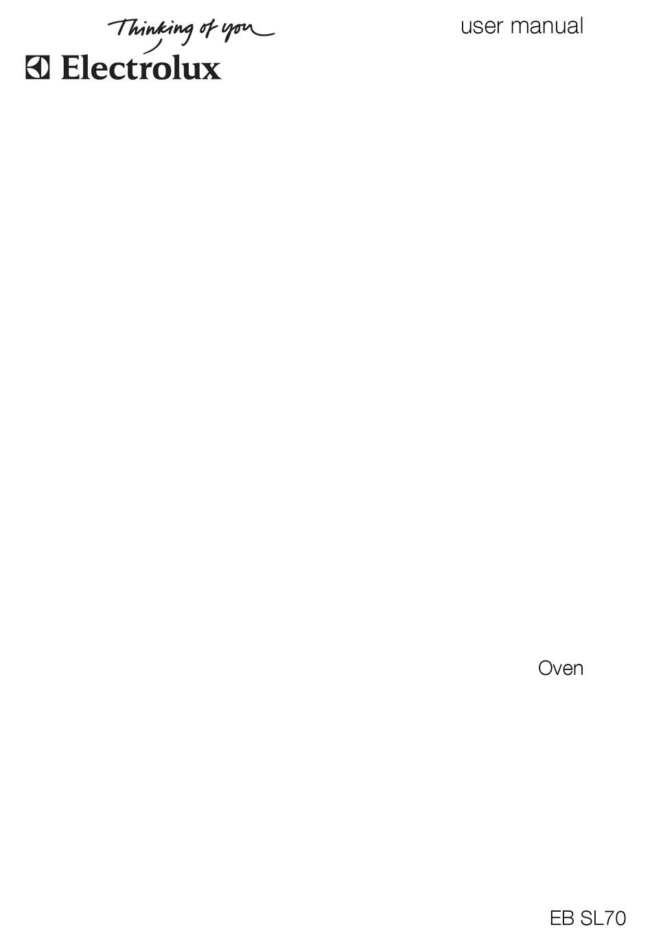 electrolux eb sl70 user manual pdf download | manualslib  manualslib