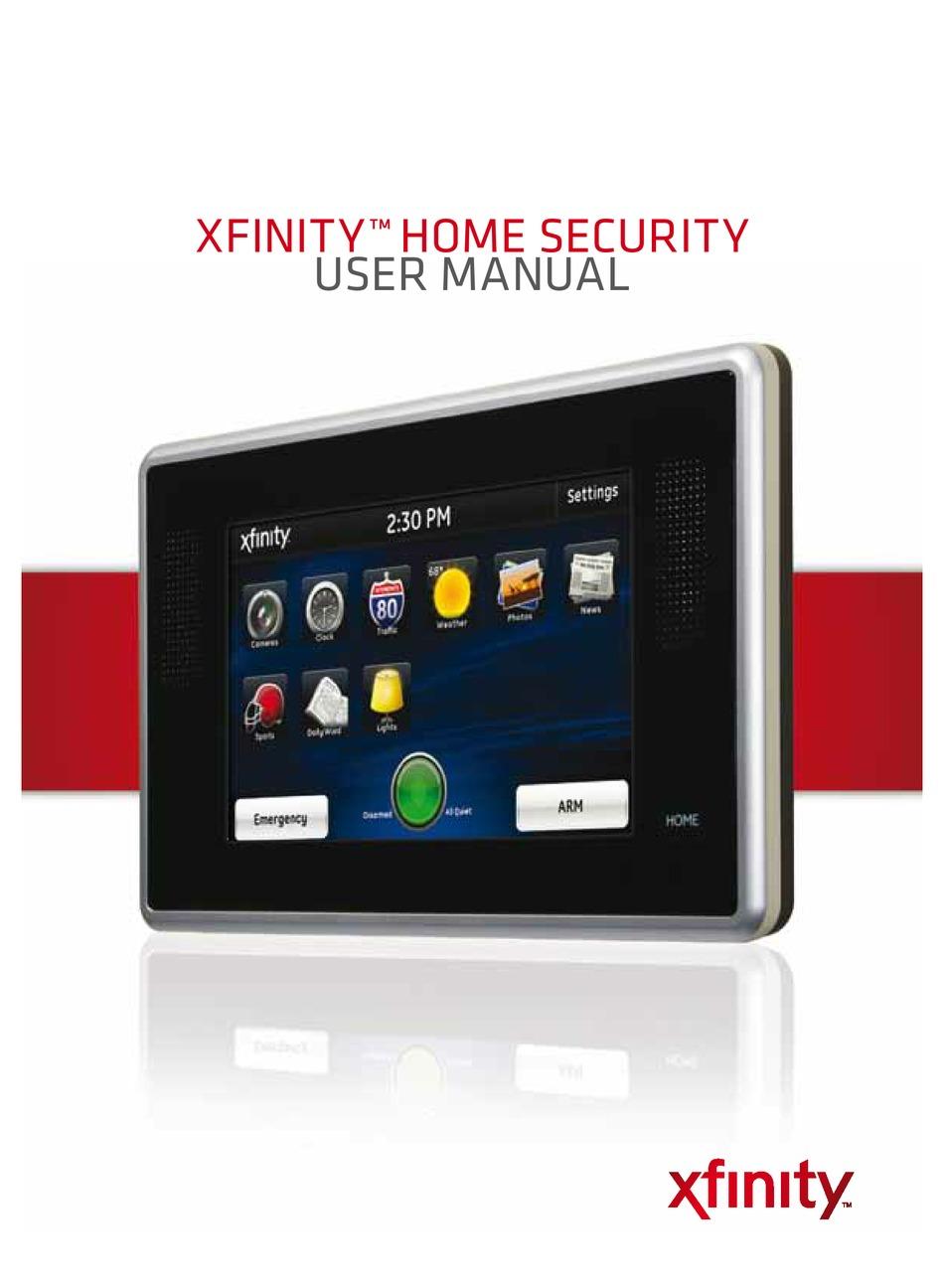 Comcast Home Security User Manual Pdf Download Manualslib