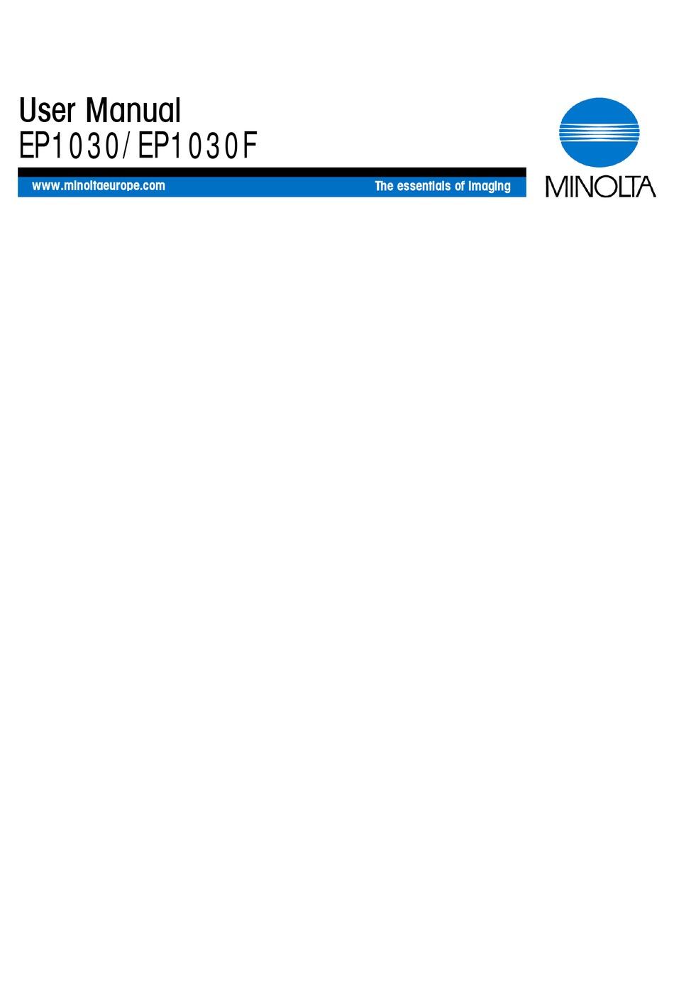 Minolta Ep1030 User Manual Pdf Download Manualslib