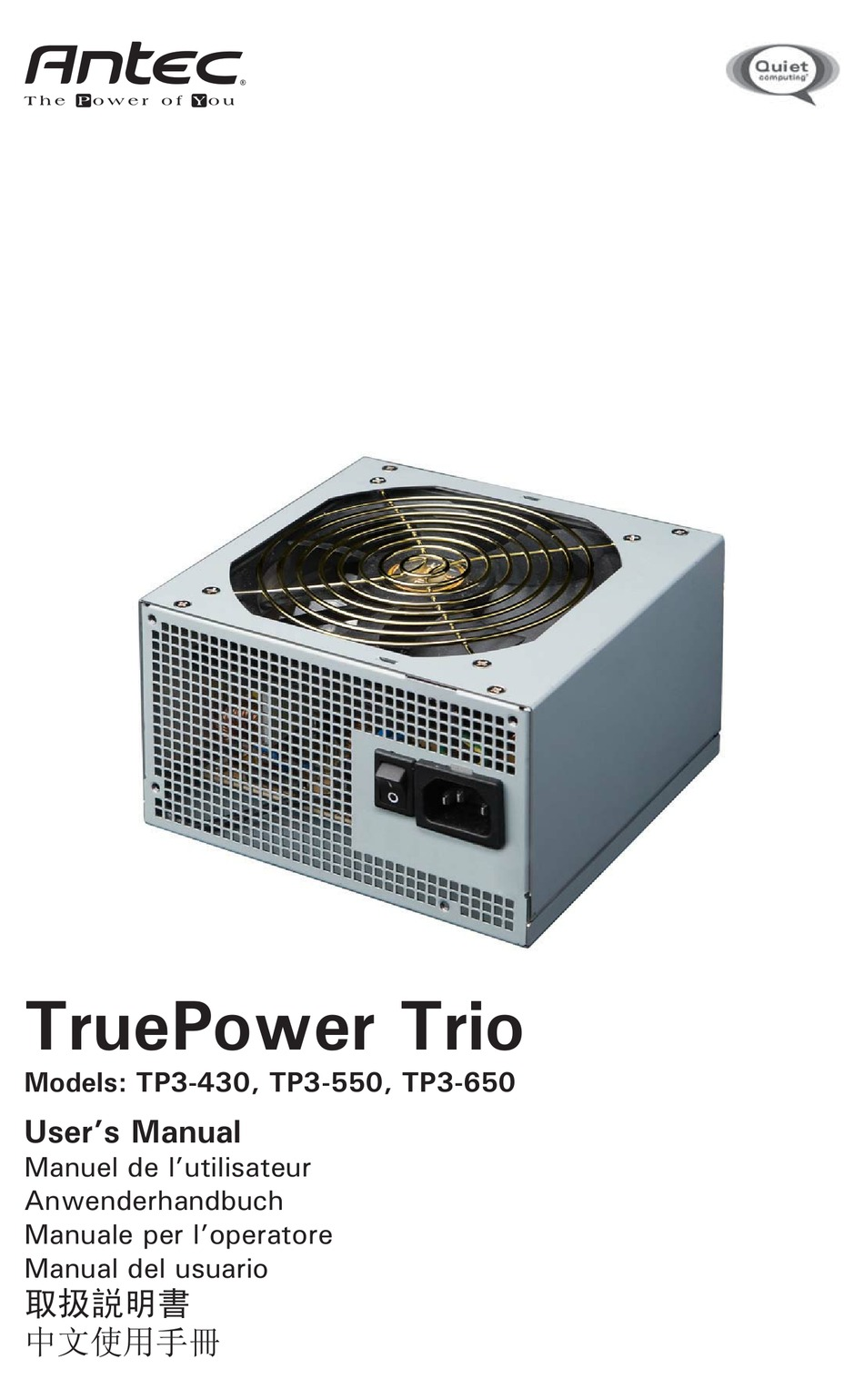 Antec Truepower Trio Tp3 430 User Manual Pdf Download Manualslib