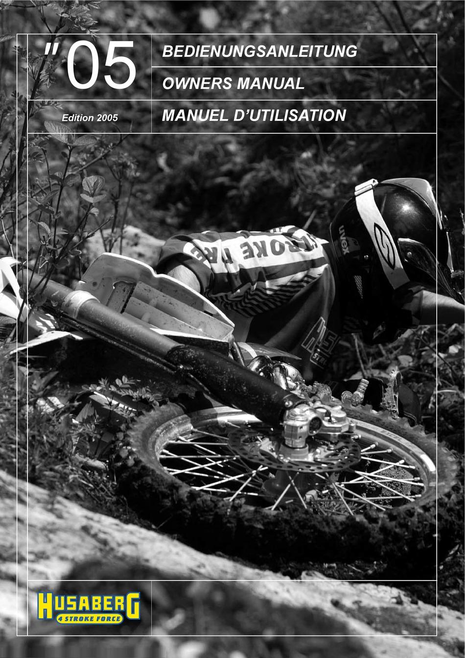 Husaberg 05 Owner S Manual Pdf Download Manualslib