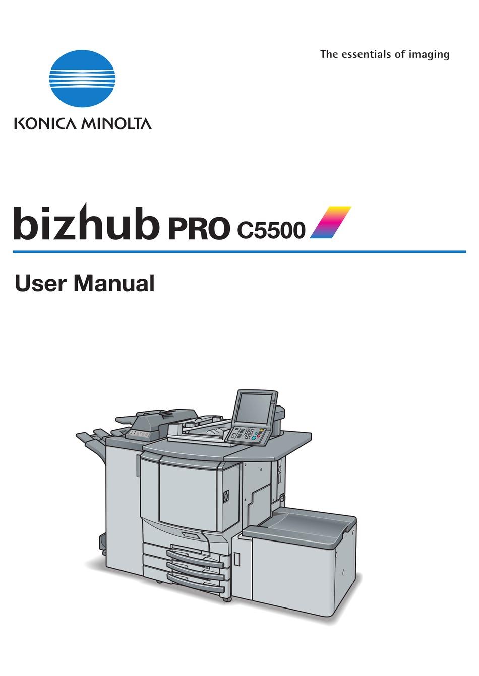 Konica Minolta Bizhub Pro C5500 User Manual Pdf Download Manualslib