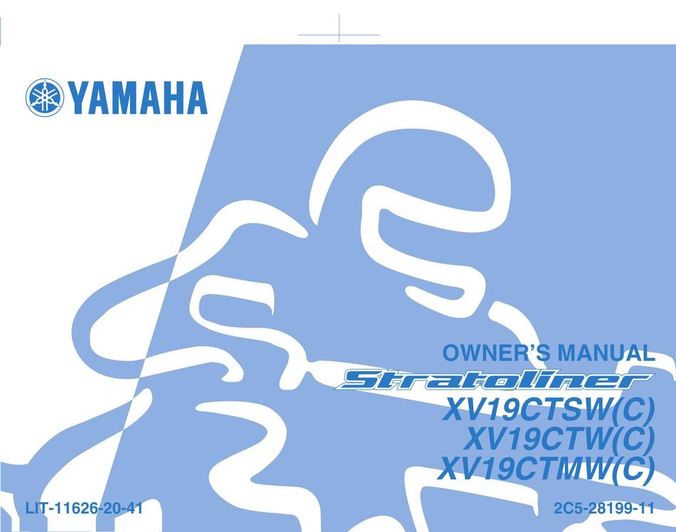 Yamaha Stratoliner Xv19ctsc Owner S Manual Pdf Download Manualslib