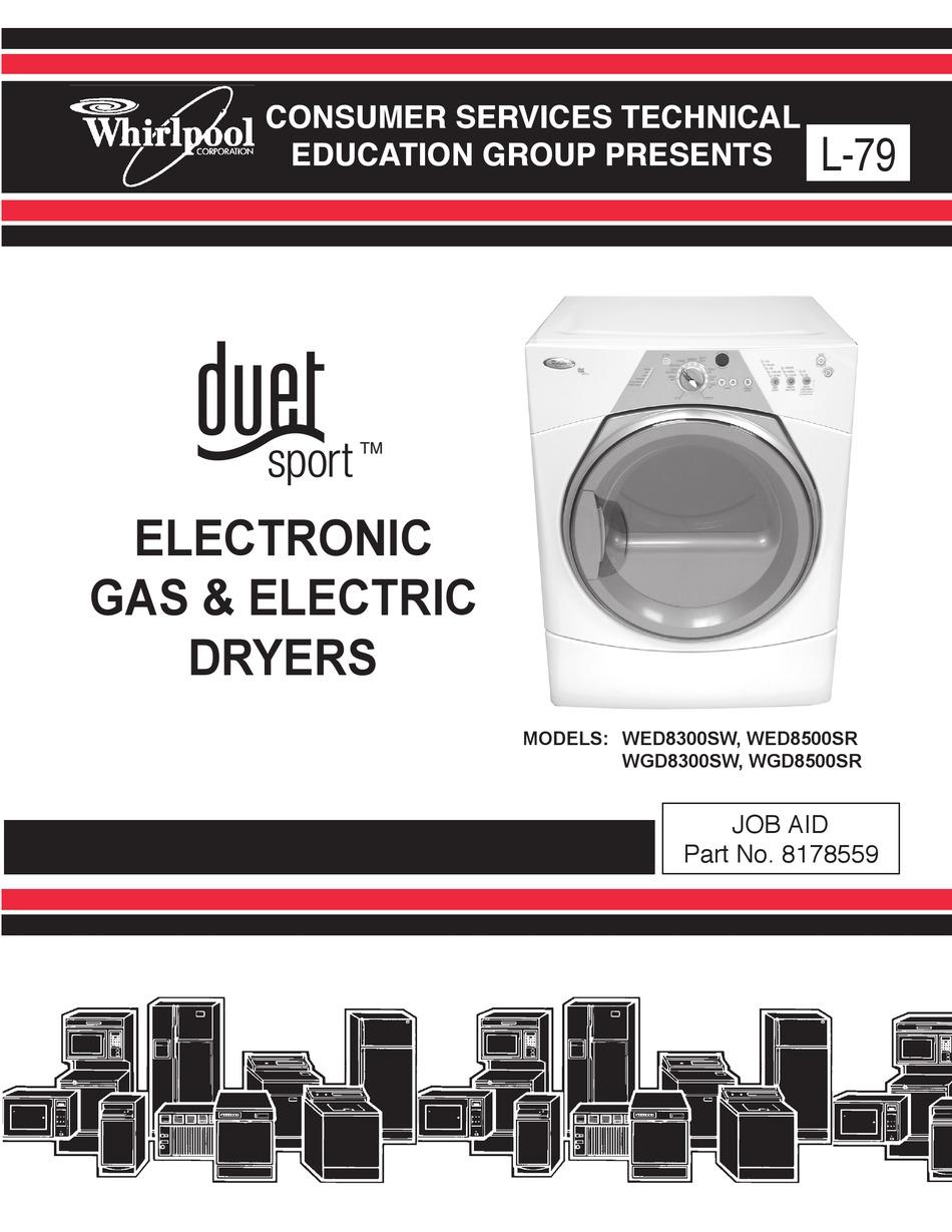WHIRLPOOL DUET SPORT WED8300SW MANUAL Pdf Download | ManualsLib | Whirlpool Sport Duet Dryer Wiring Diagram |  | ManualsLib