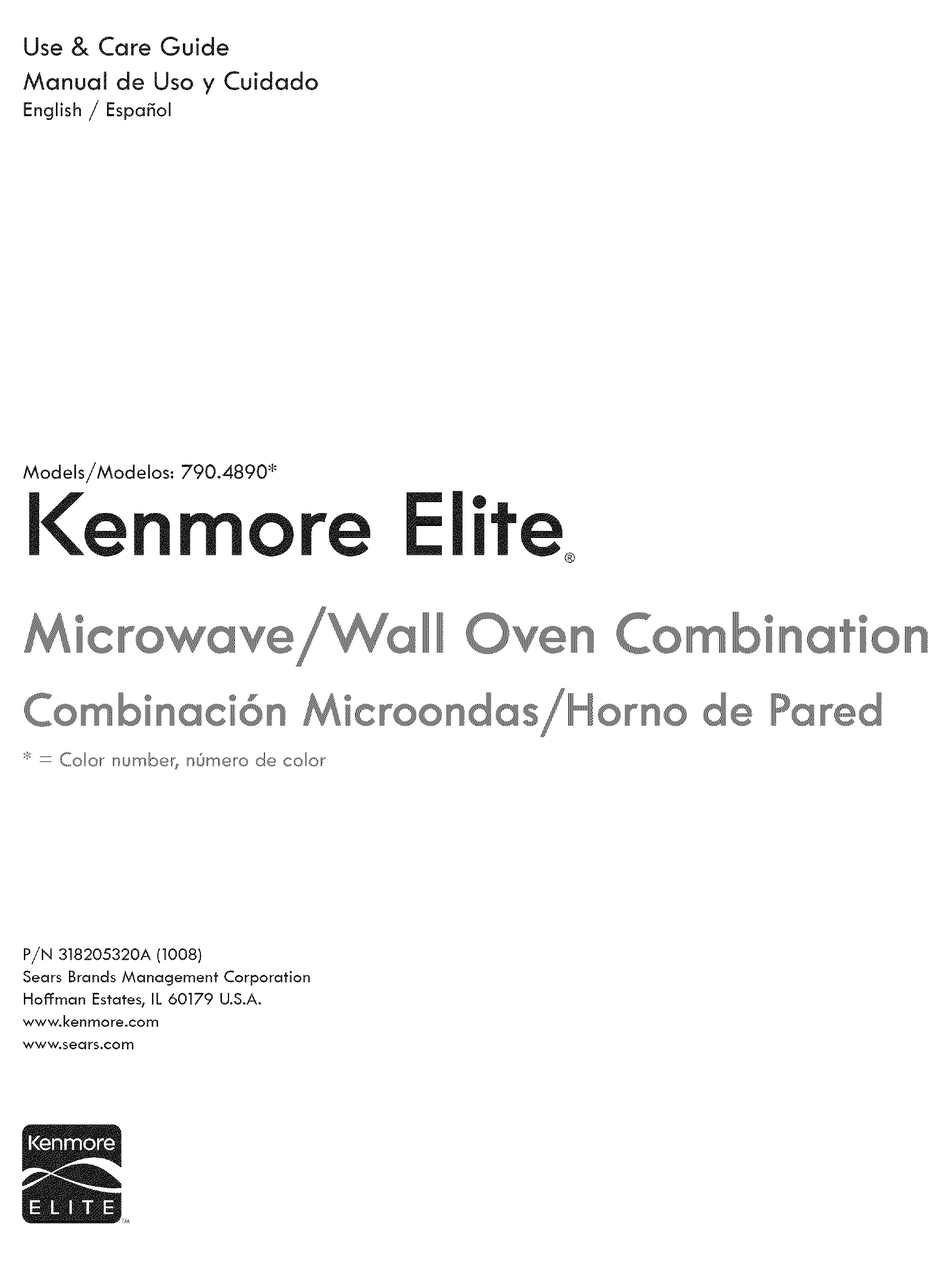 Kenmore 790 4890 Series Use Care