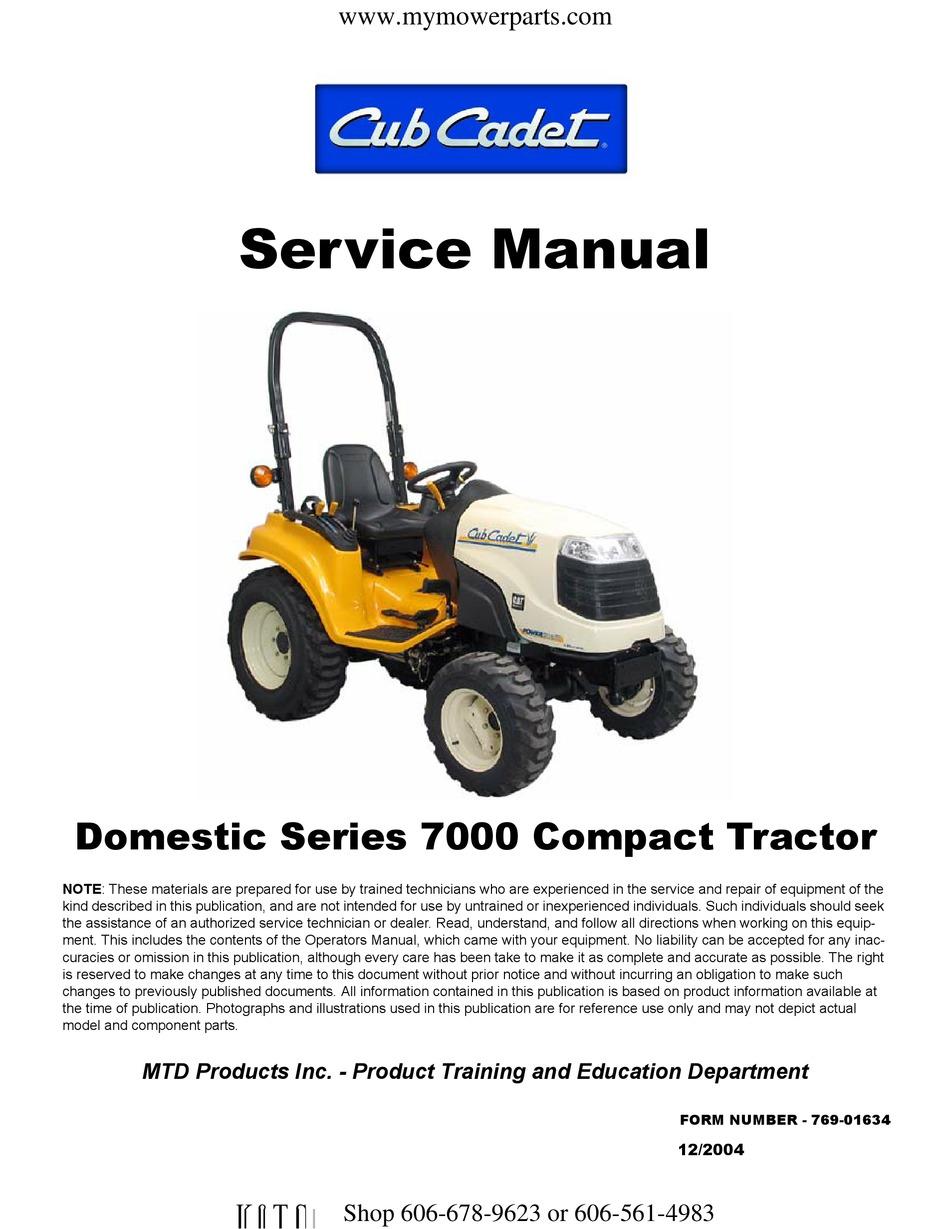 Cub Cadet Model 7254 Service,Parts /& Operators Manuals #30^