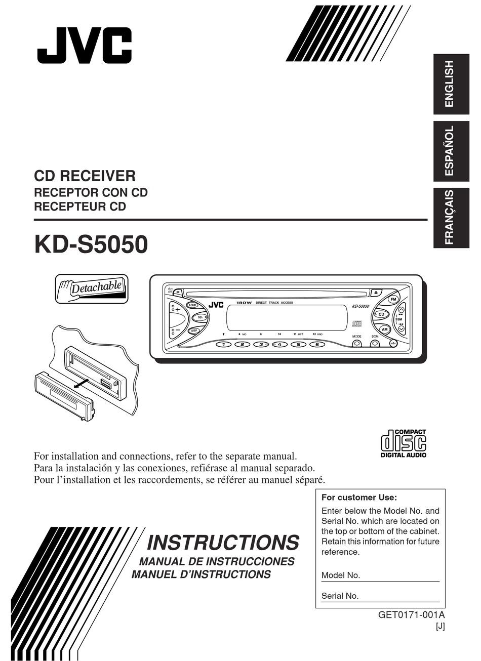 Jvc Kd S5050 Instructions Manual Pdf