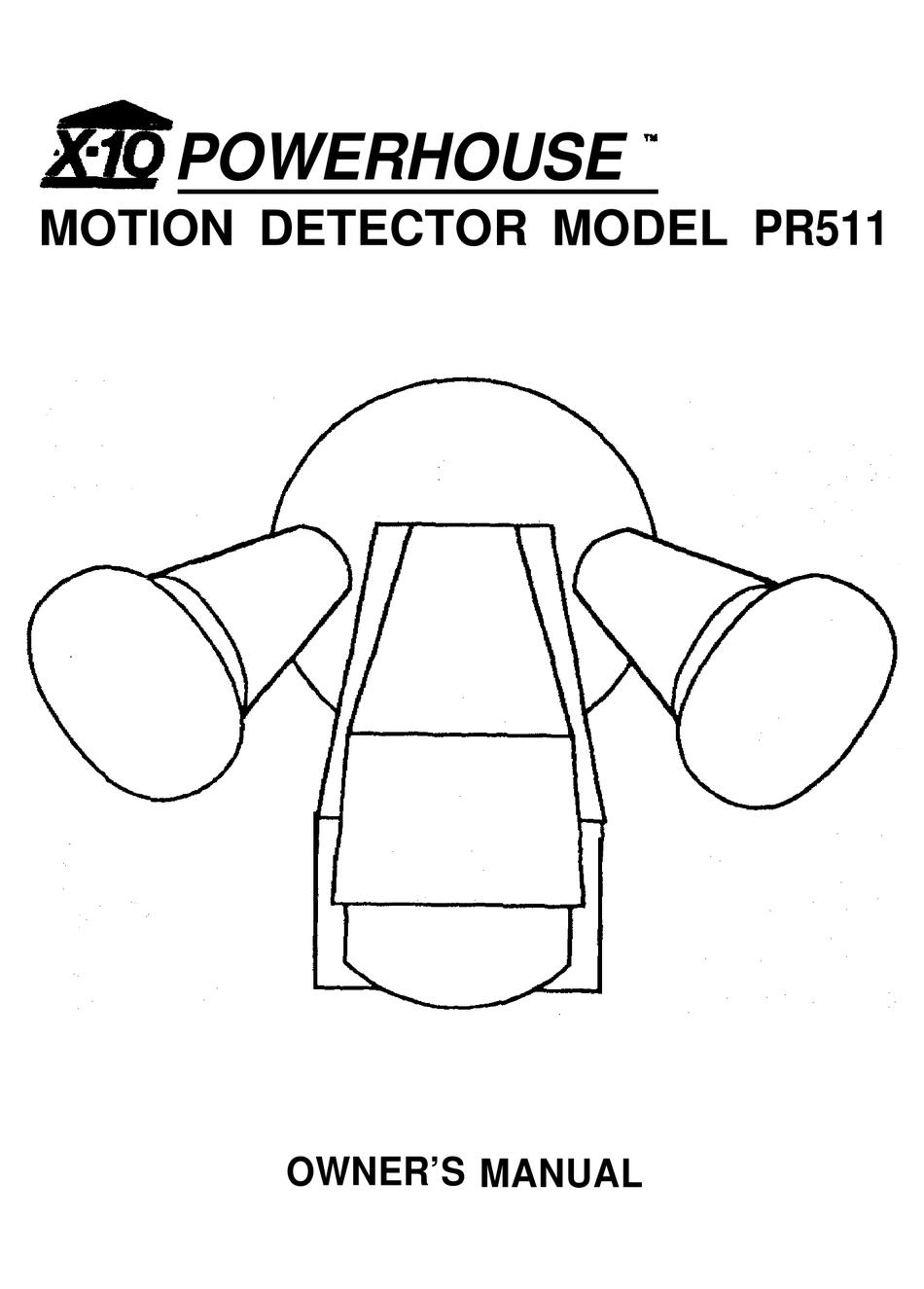 X10 PR511 OWNER'S MANUAL Pdf Download | ManualsLib | X 10 Motion Detector Wiring Diagram |  | ManualsLib