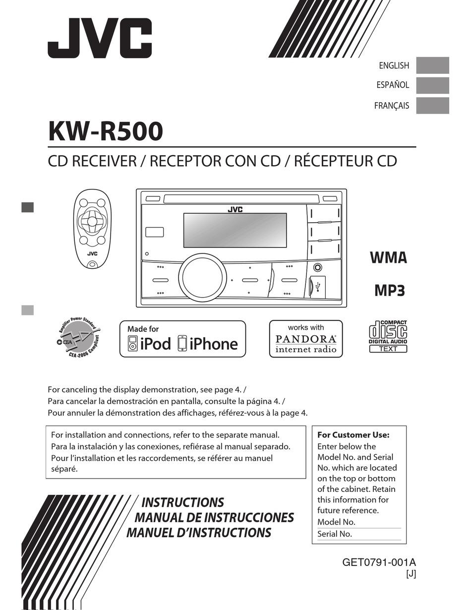 JVC KW-R500 INSTRUCTIONS MANUAL Pdf Download | ManualsLib | Jvc Kw R500 Car Stereo Wiring Diagram |  | ManualsLib