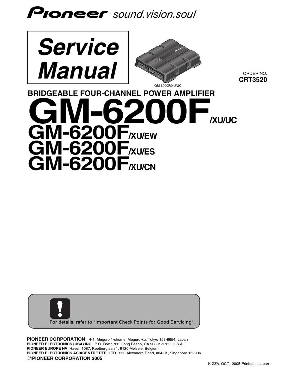 pioneer gm-6200f/xu/uc service manual pdf download   manualslib  manualslib