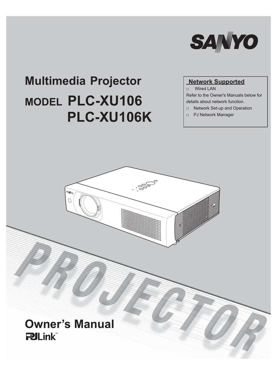 Sanyo Wxga Projector User Manual
