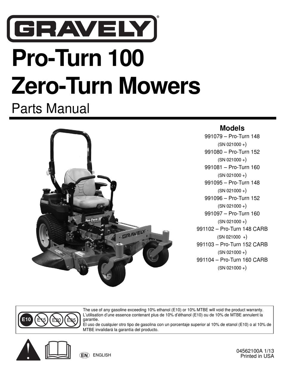 Gravely 991080 Psrts Manual Pdf Download Manualslib