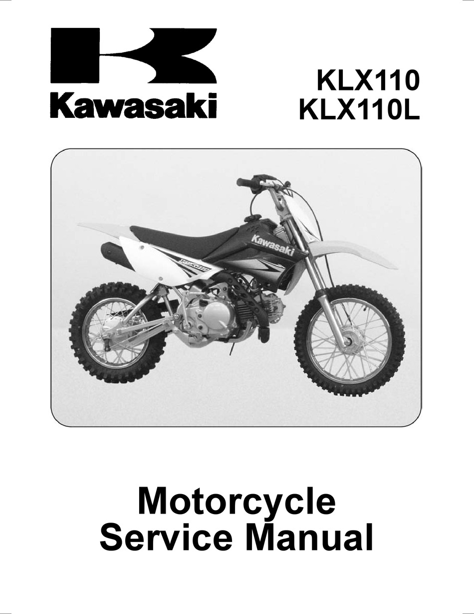 Kawasaki Klx110 Service Manual Pdf Download Manualslib