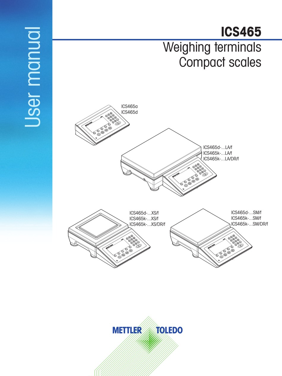 Mettler Toledo Ics465 User Manual Pdf Download Manualslib