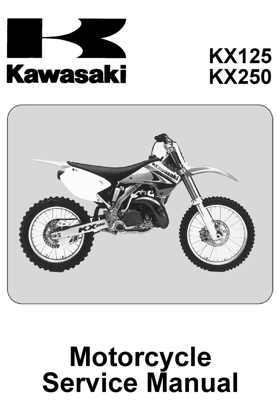 Kawasaki Kx125 Service Manual Pdf Download Manualslib