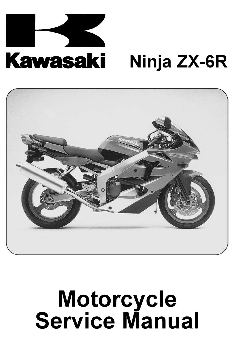 Kawasaki Ninja Zx 6r Service Manual Pdf Download Manualslib