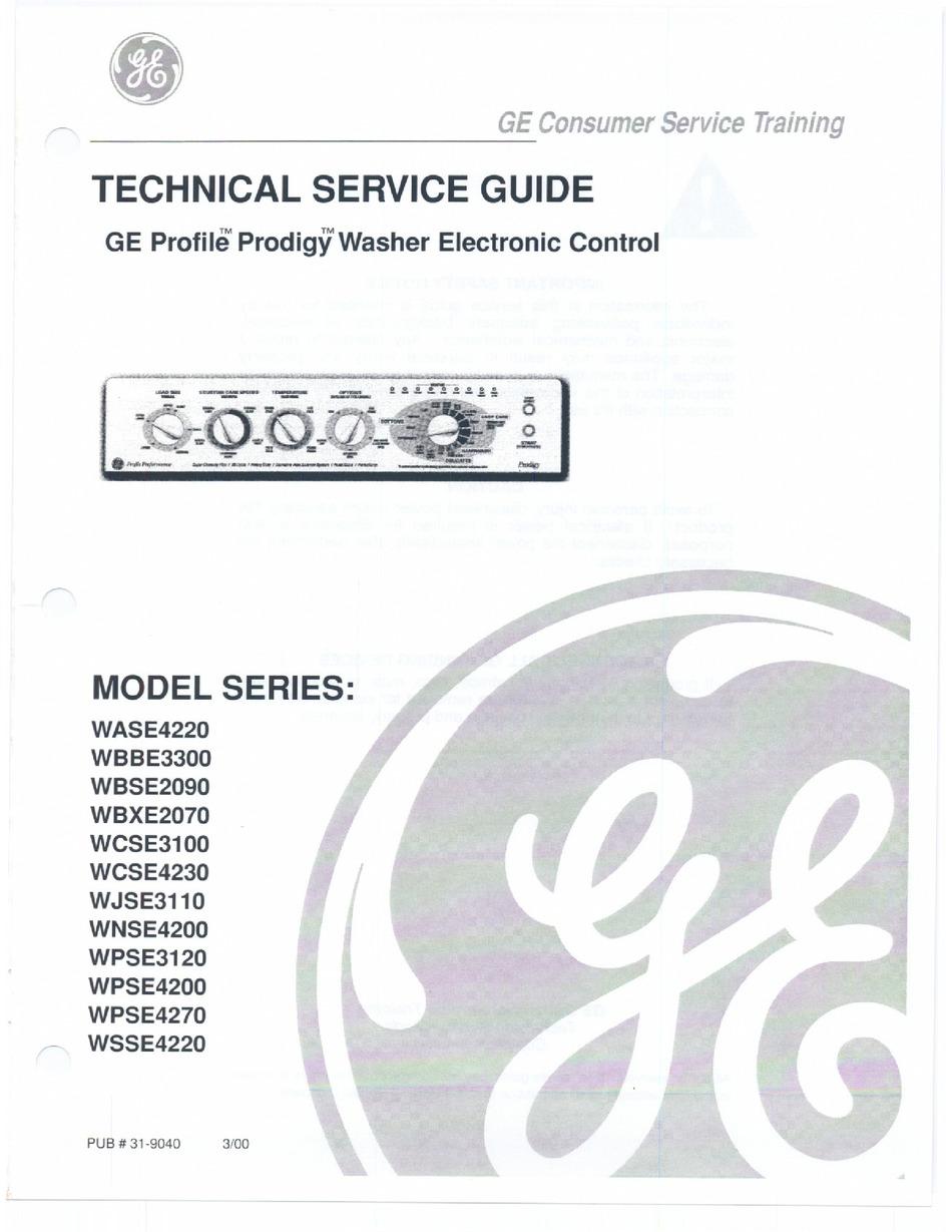 GE PROFILE TECHNICAL SERVICE MANUAL Pdf Download | ManualsLib | Ge Profile Prodigy Wiring Diagram |  | ManualsLib