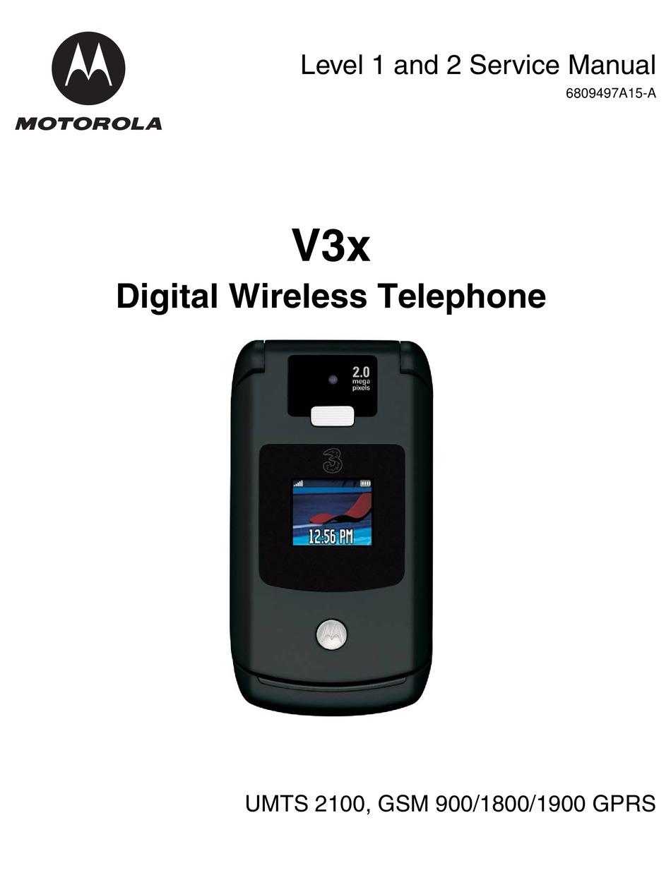 Motorola V3 Service Manual Pdf Download Manualslib