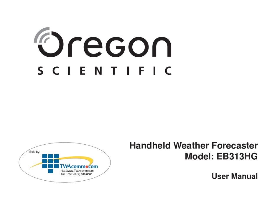 Oregon Scientific Eb313hg User Manual Pdf Download Manualslib