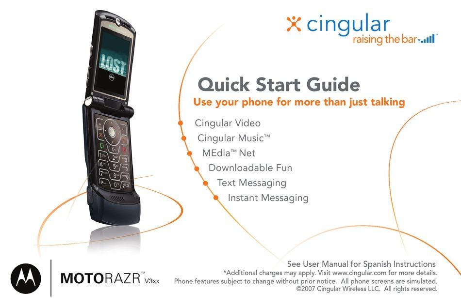 Motorola Razr V3xx Quick Start Manual Pdf Download Manualslib