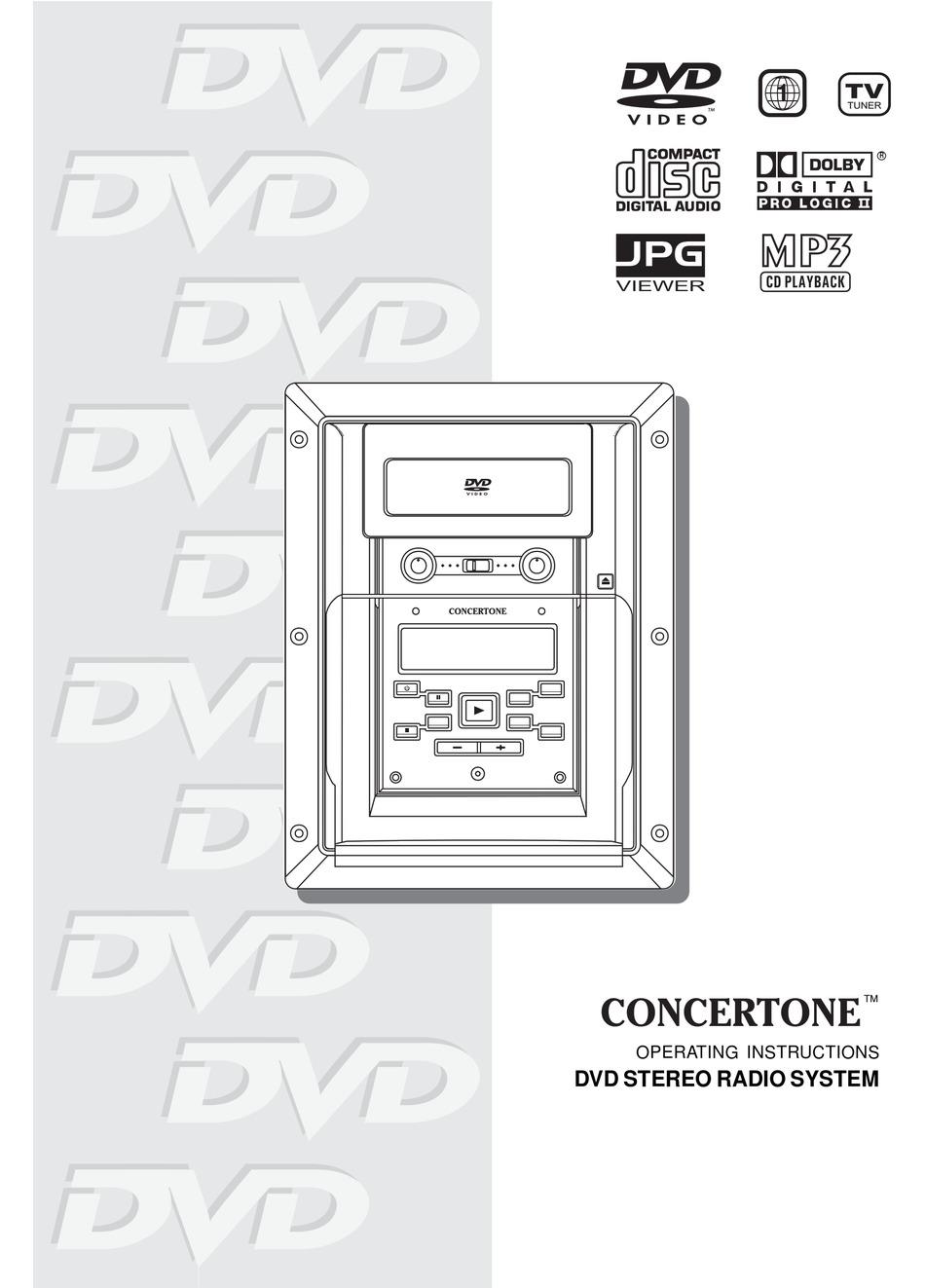 CONCERTONE DVD STEREO RADIO SYSTEM OPERATING INSTRUCTIONS MANUAL Pdf  Download   ManualsLib   Concertone Wiring Diagram      ManualsLib