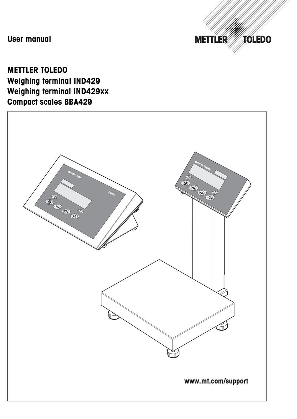 Mettler Toledo Ind429 User Manual Pdf Download Manualslib