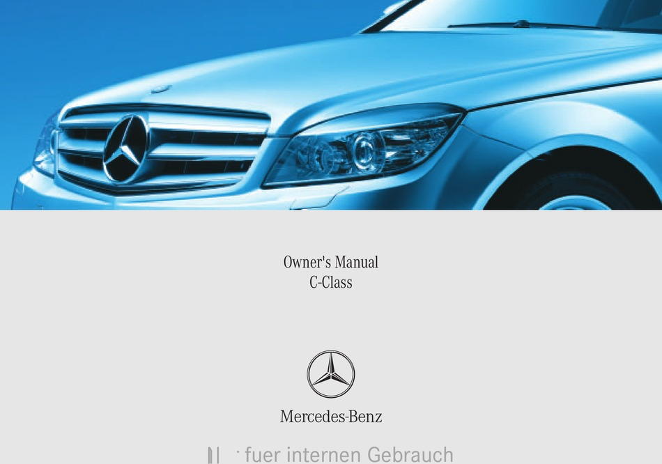 Mercedes Benz C Class Owner S Manual Pdf Download Manualslib