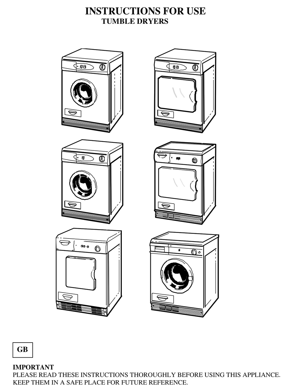 White Knight Tumble Dryers Instructions For Use Manual Pdf Download Manualslib