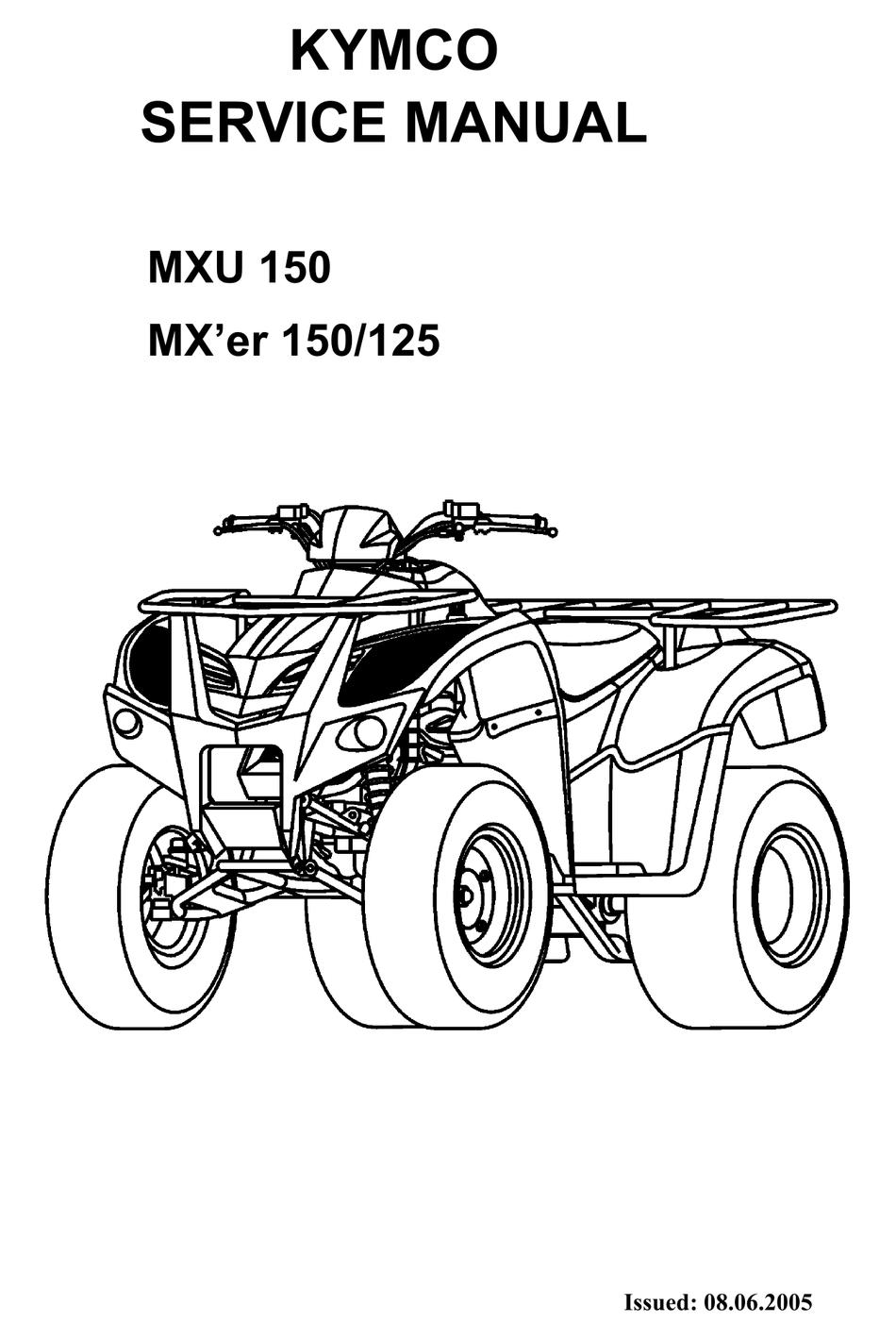 Kymco Mxu 150 Service Manual Pdf Download Manualslib