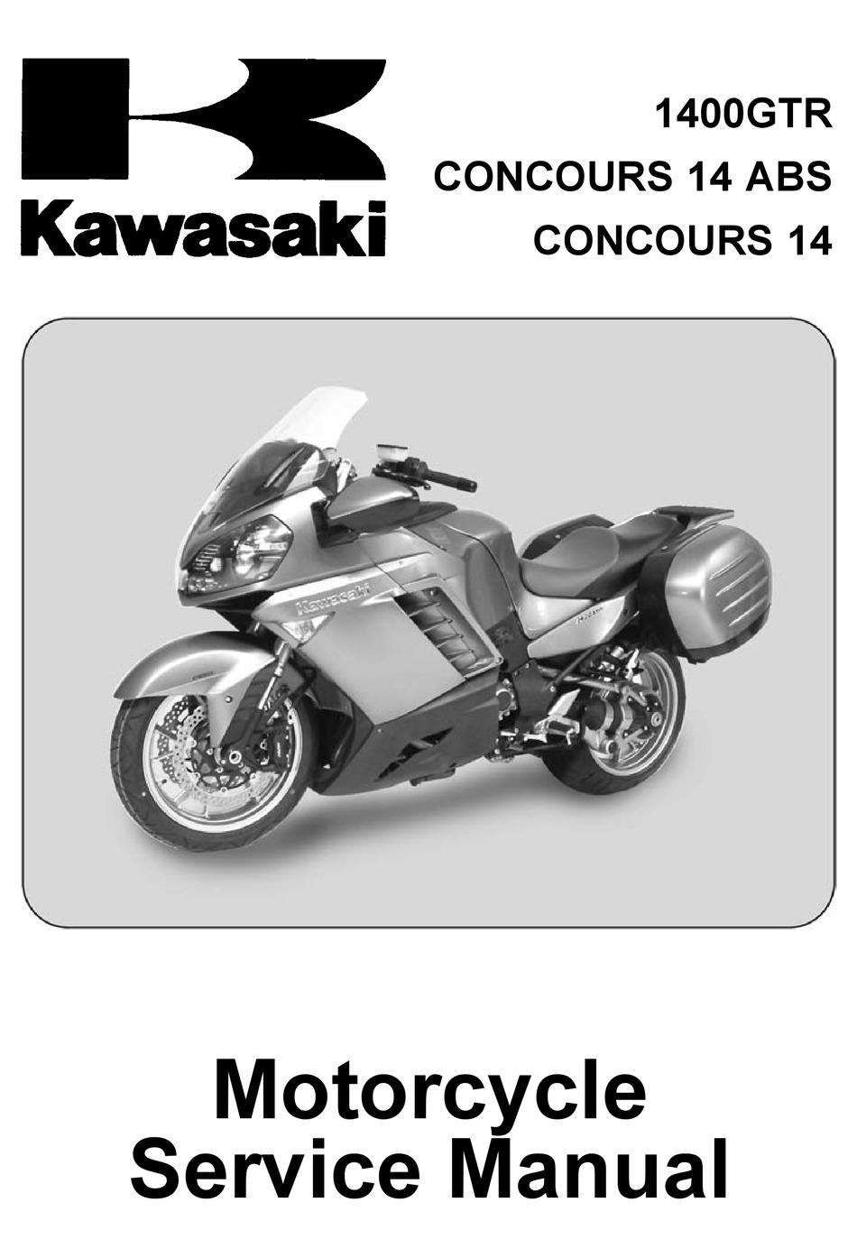 Kawasaki 1400gtr Service Manual Pdf Download Manualslib