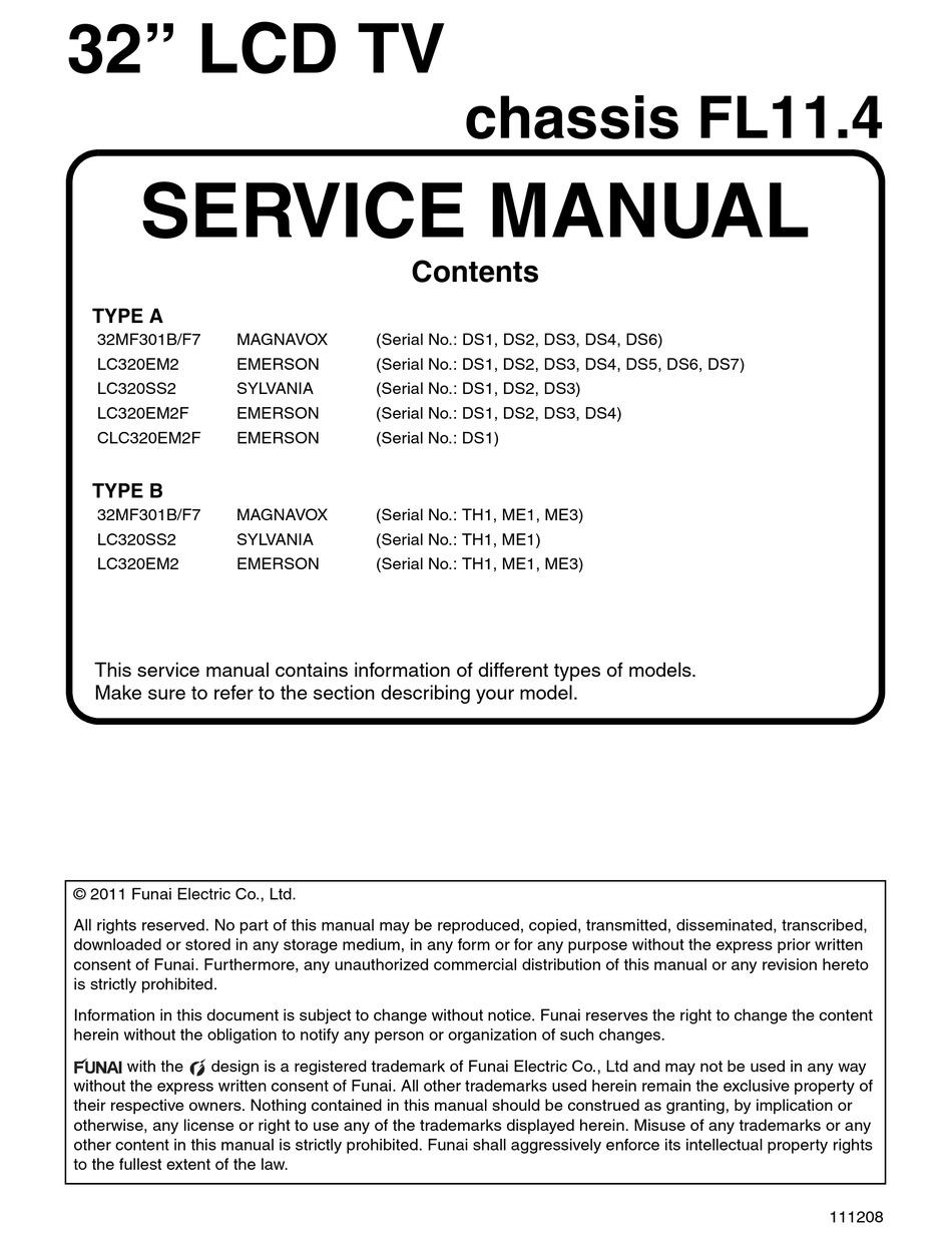 Emerson Lc320em2f Service Manual Pdf Download Manualslib