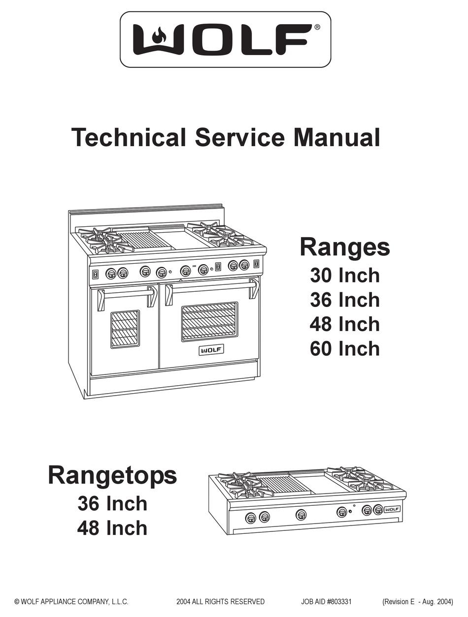 WOLF RANGES TECHNICAL & SERVICE MANUAL Pdf Download | ManualsLib | Wolf Range Wiring Diagram |  | ManualsLib