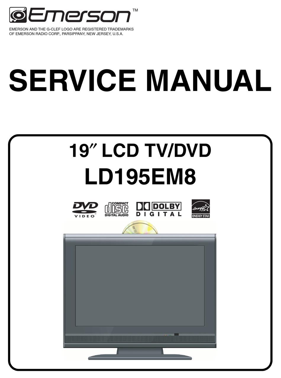 Emerson Ld195em8 Service Manual Pdf Download Manualslib