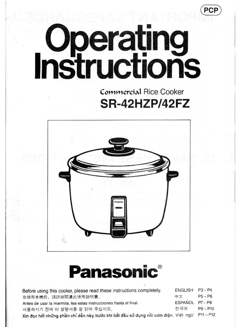 PANASONIC SR-42HZP OPERATING INSTRUCTIONS MANUAL Pdf Download | ManualsLib | Rice Cooker Panasonic Sr 42hzp Wiring Diagram |  | ManualsLib