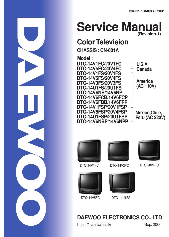 Daewoo Dtq 14v1fc Service Manual Pdf Download Manualslib