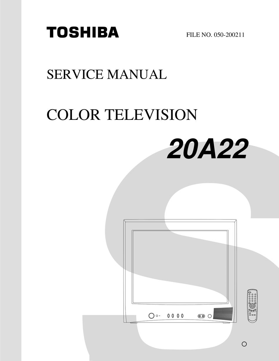 Toshiba 20a22 Service Manual Pdf Download Manualslib