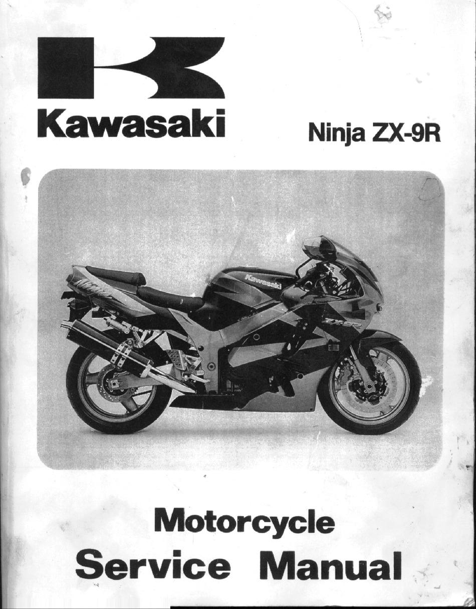 Kawasaki Ninja Zx 9r Service Manual Pdf Download Manualslib
