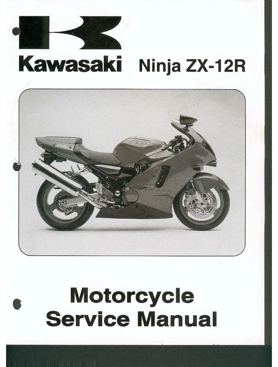 Kawasaki Ninja Zx 12r Service Manual Pdf Download Manualslib