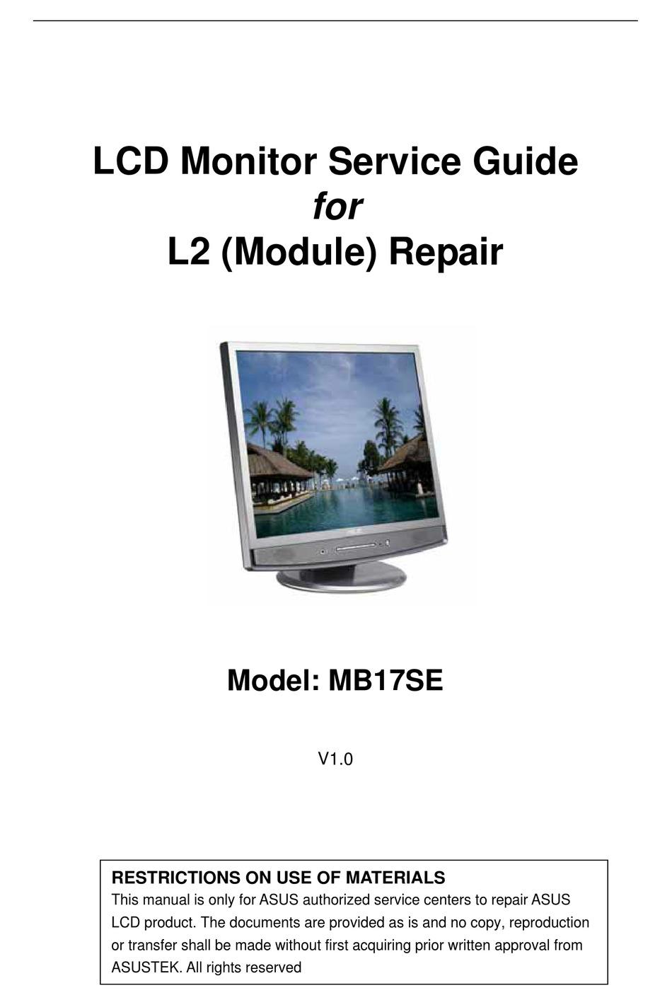 Asus Vb171 Repair Service Manual User EBook @ 9.noemiarnold.com