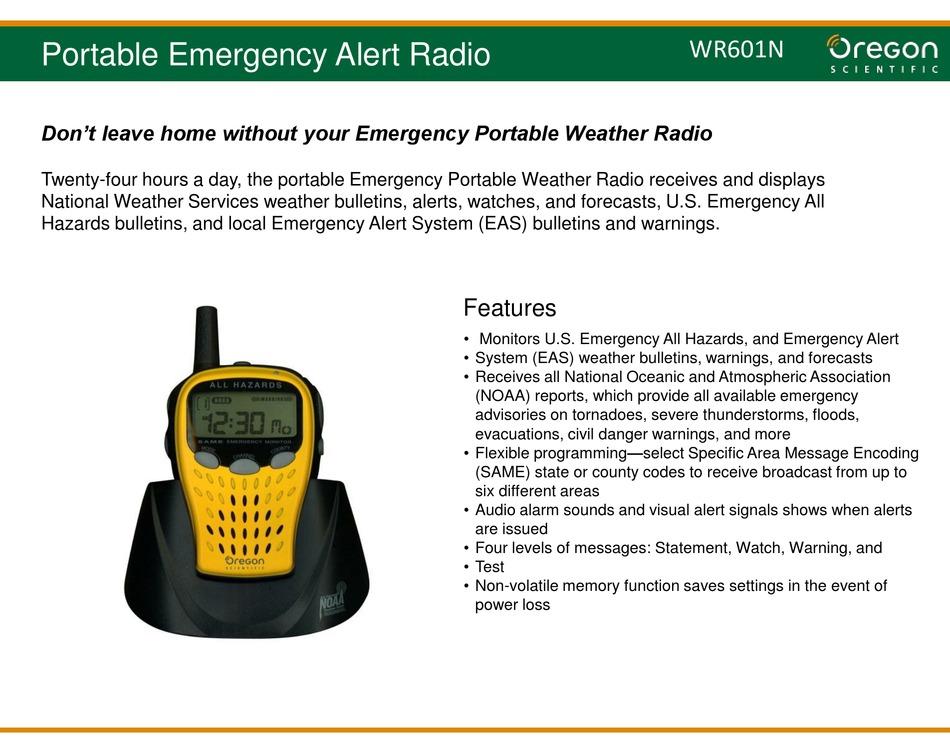 Oregon Scientific Wr601n Quick Manual Pdf Download Manualslib