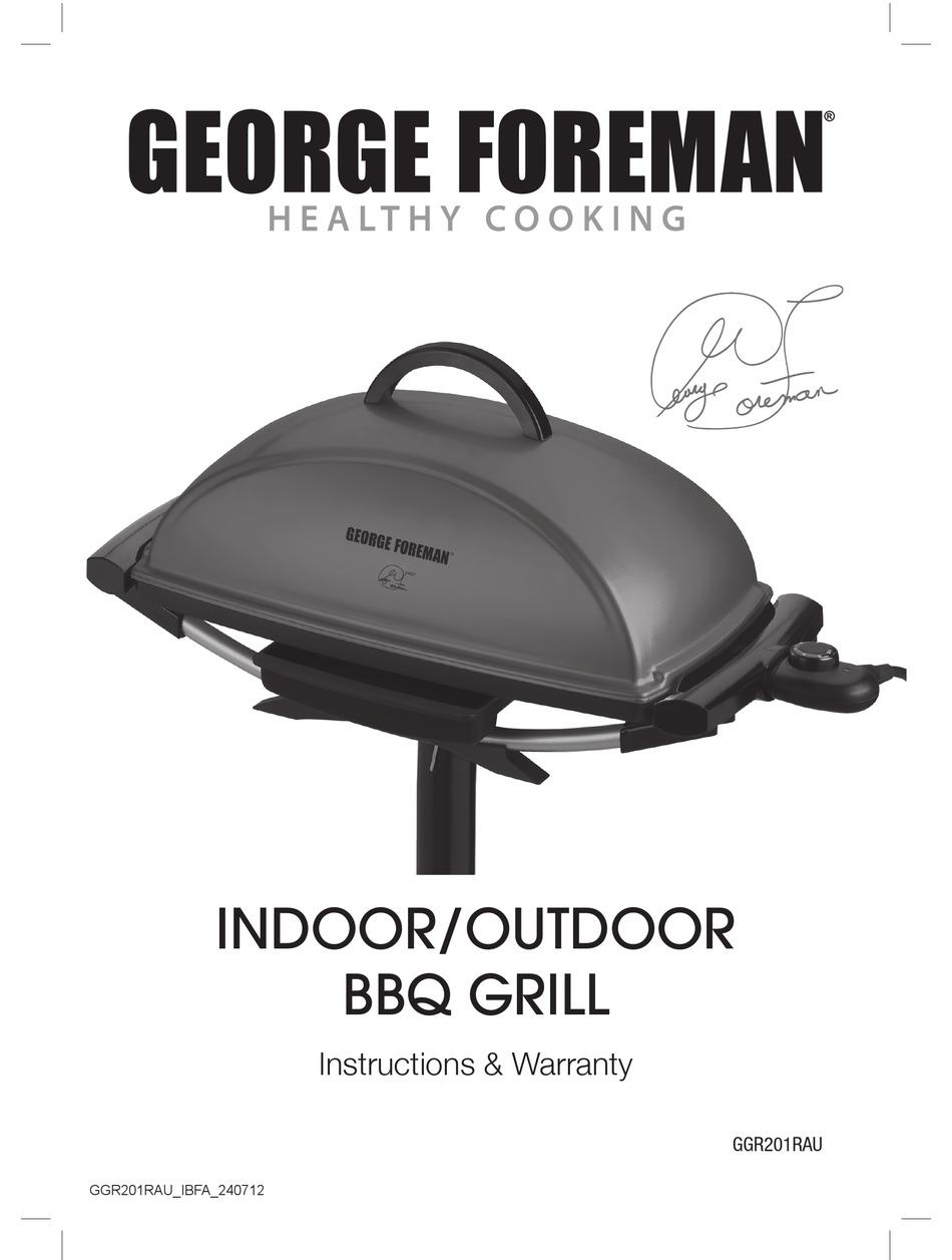 George Foreman Ggr201rau Instructions Warranty Pdf Download Manualslib