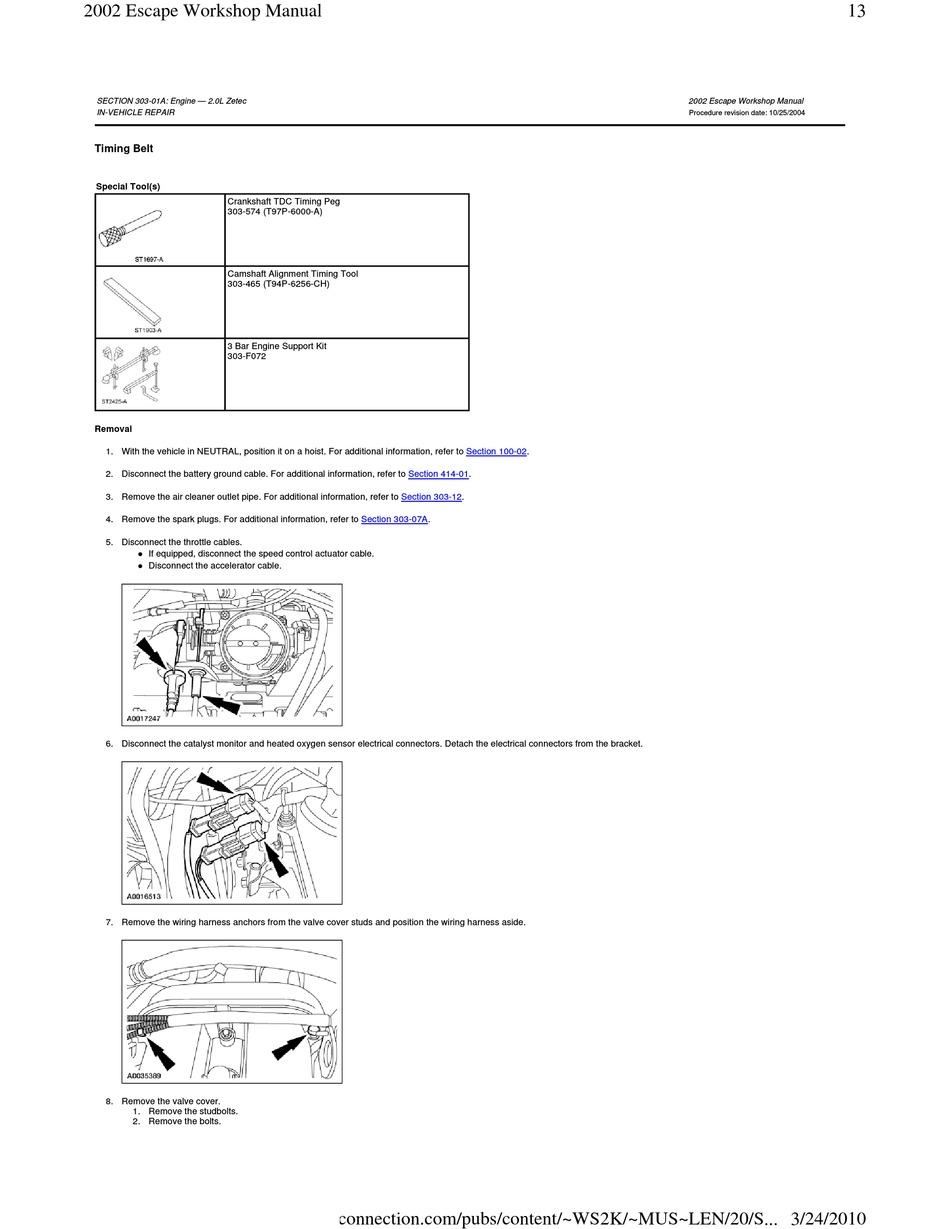 Ford Escape 2002 Workshop Manual Pdf Download Manualslib