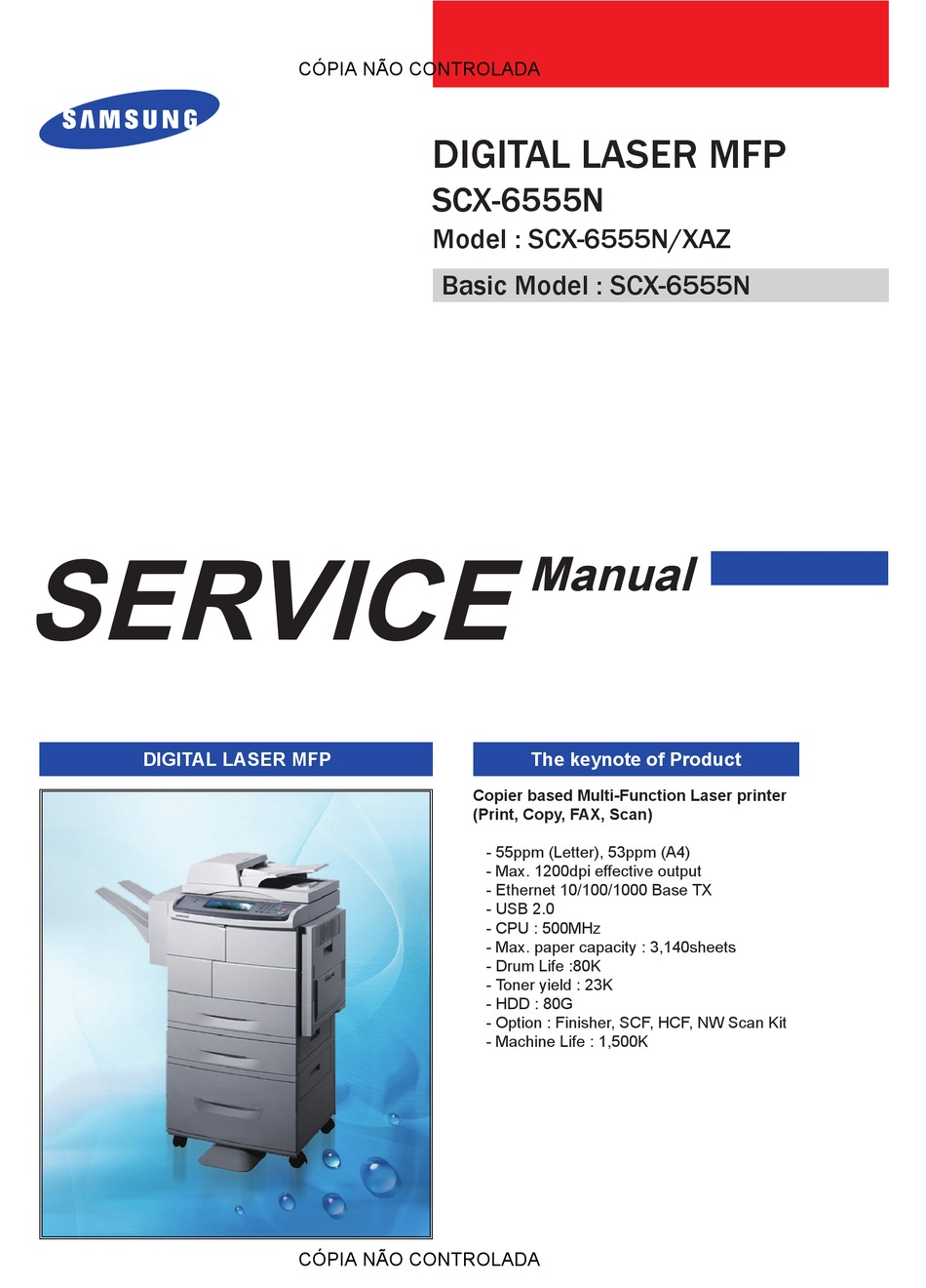 Samsung Scx 6555n Service Manual Pdf Download Manualslib