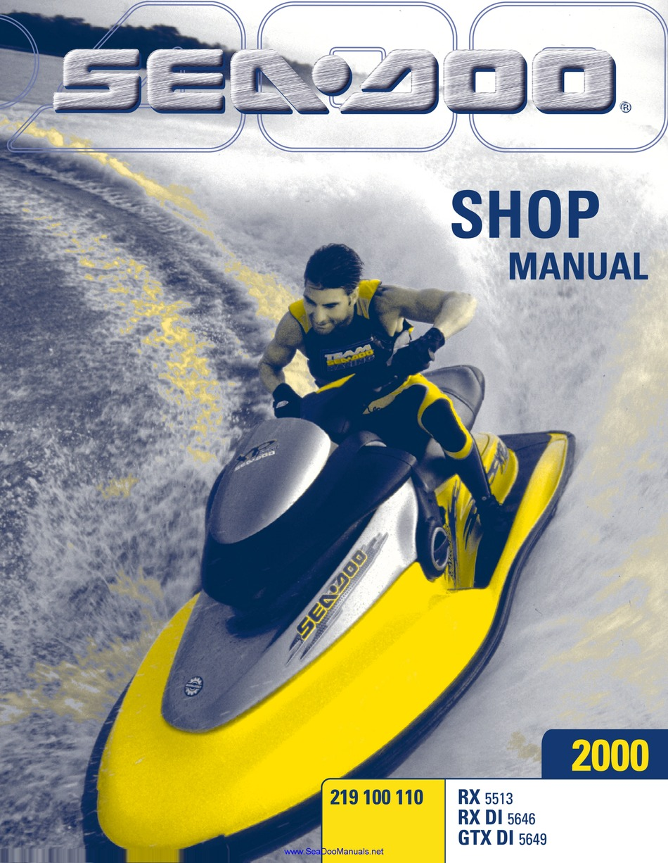 Sea Doo Rx Shop Manual Pdf Download Manualslib