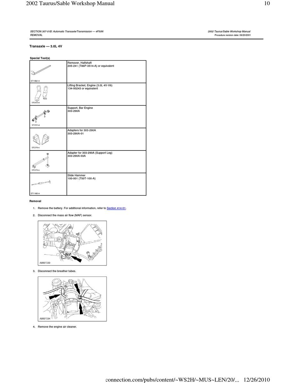 ford taurus 2002 workshop manual pdf download | manualslib  manualslib