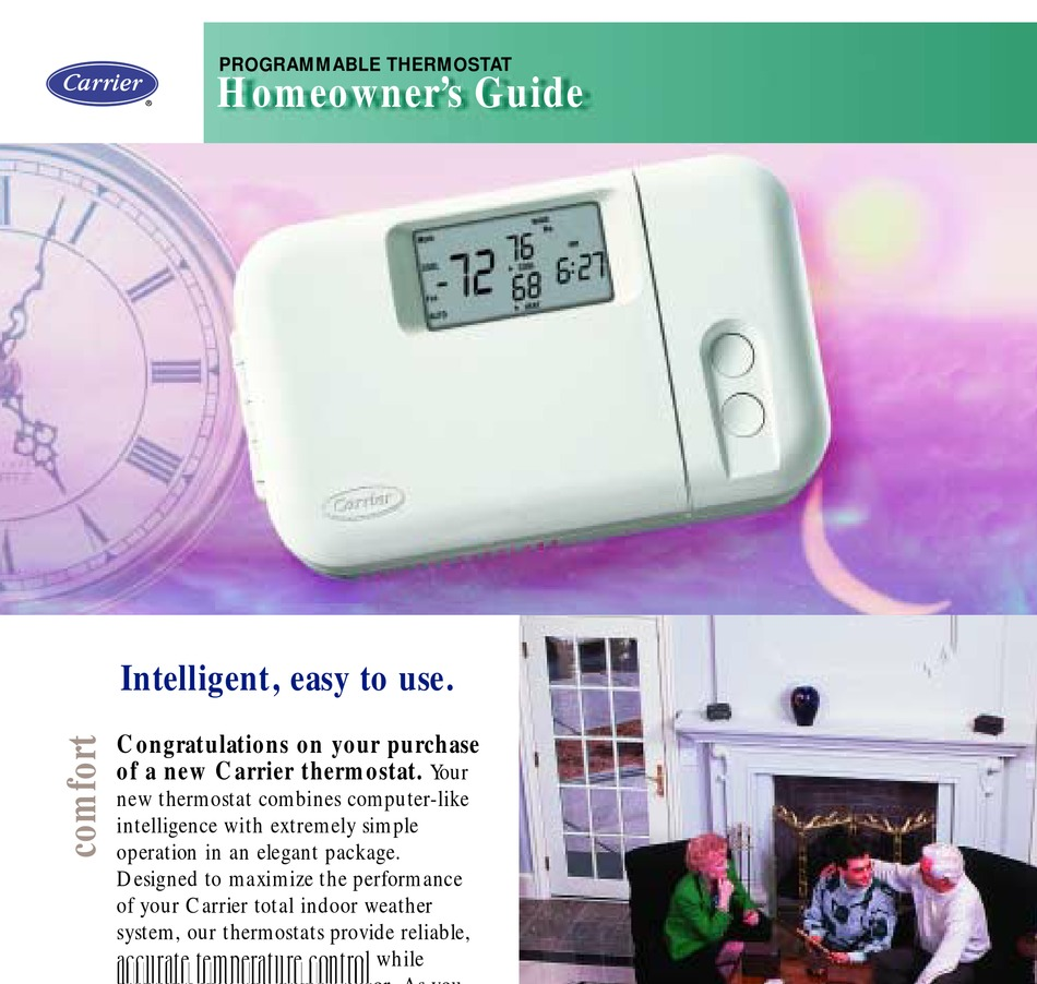 Carrier Programmable Thermostat Homeowner S Manual Pdf Download Manualslib