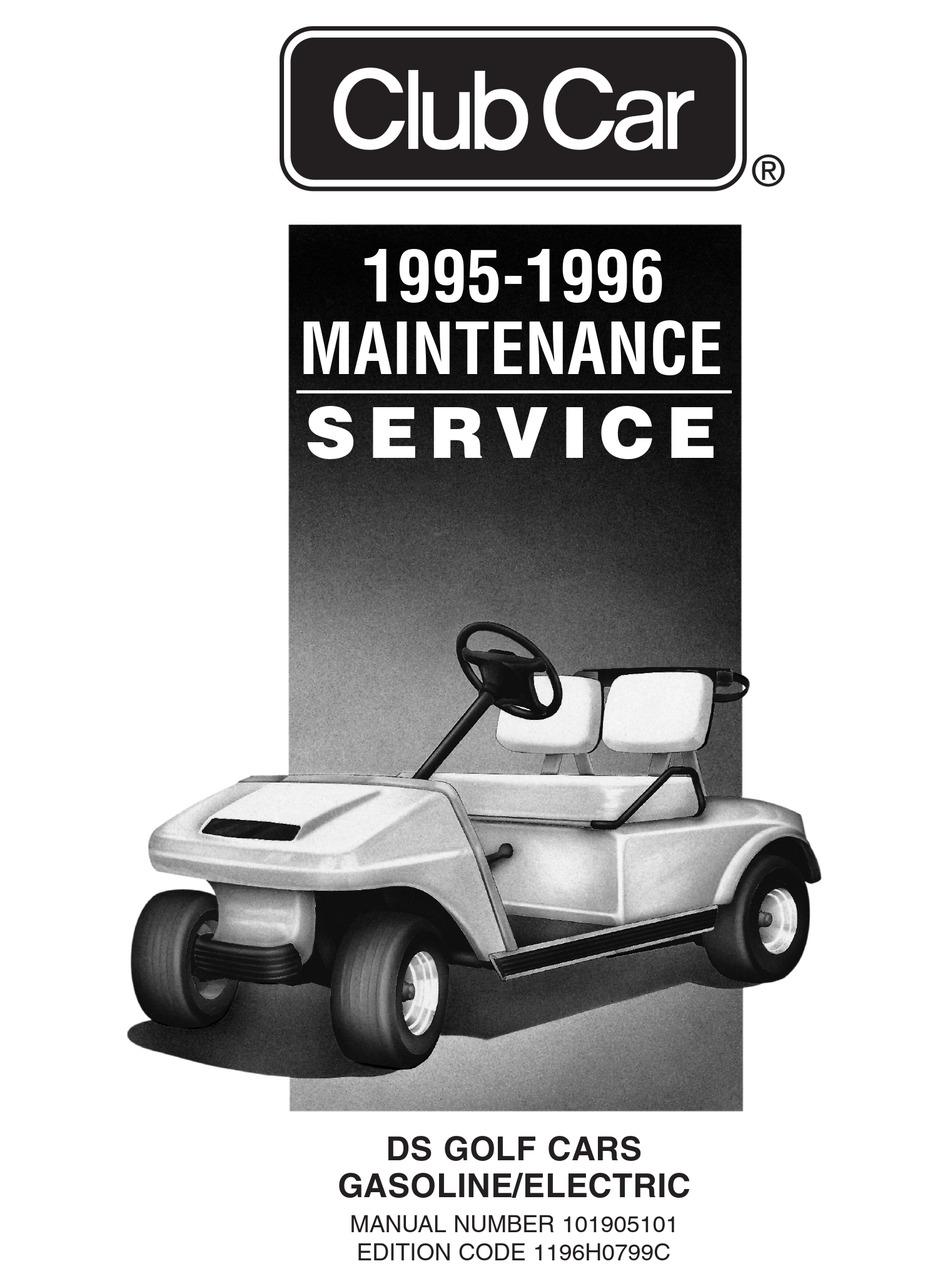 Club Car Gasoline Service Manual Pdf Download Manualslib