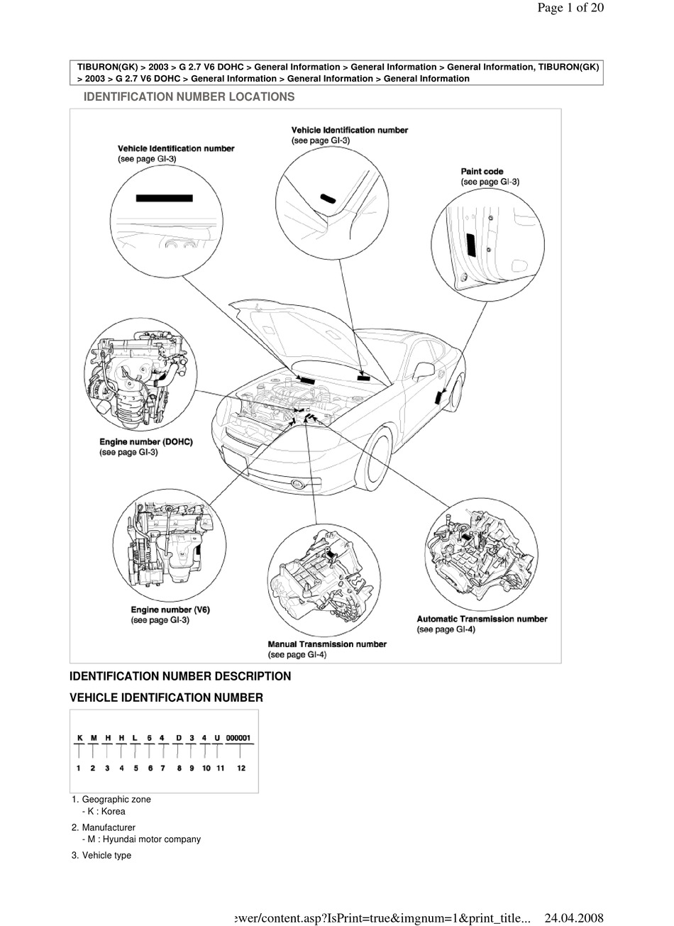HYUNDAI TIBURON 2003 WORKSHOP MANUAL Pdf Download | ManualsLib | Hyundai 2 7 Engine Diagram |  | ManualsLib