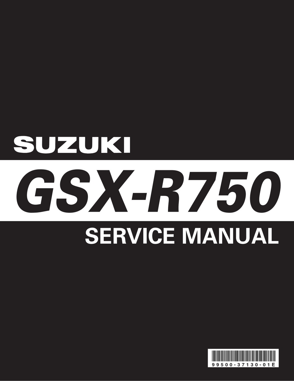 Suzuki Gsx R750 Service Manual Pdf Download Manualslib